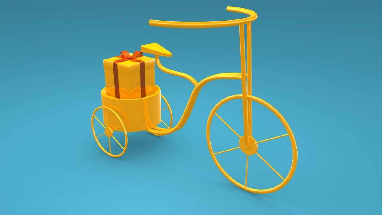 3D decoration tricycle