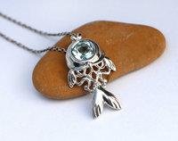 Fish pendant necklace, printable jewelry model