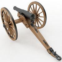 3D napoleon field gun