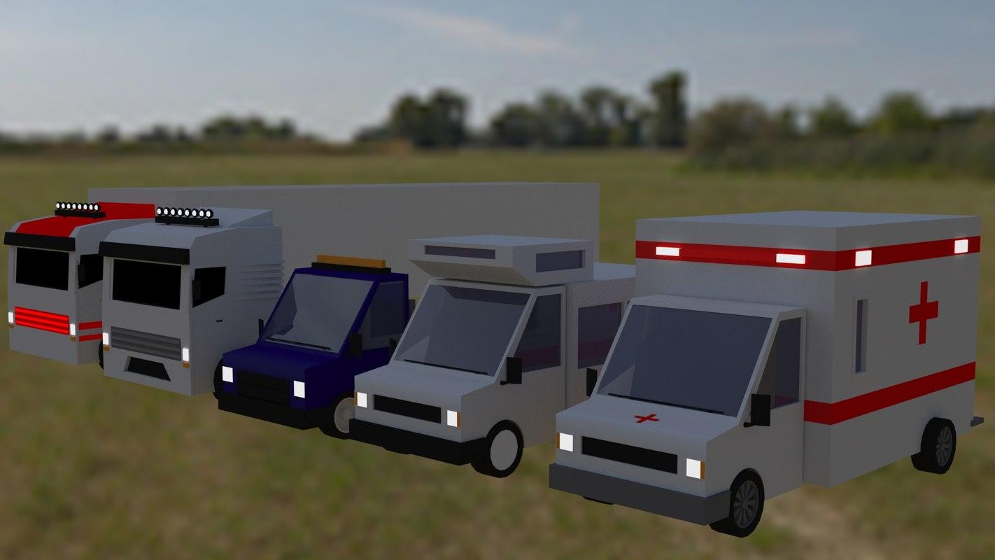 3D vehicles truck motortruck