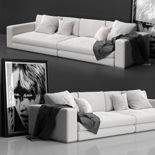 3D sofa minotti hamilton