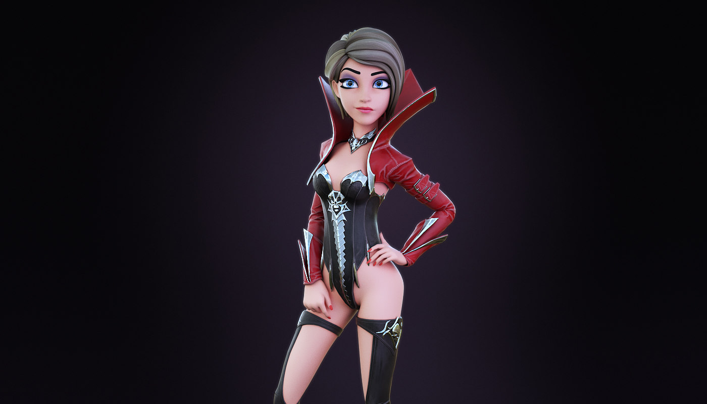 face rigged 3D model