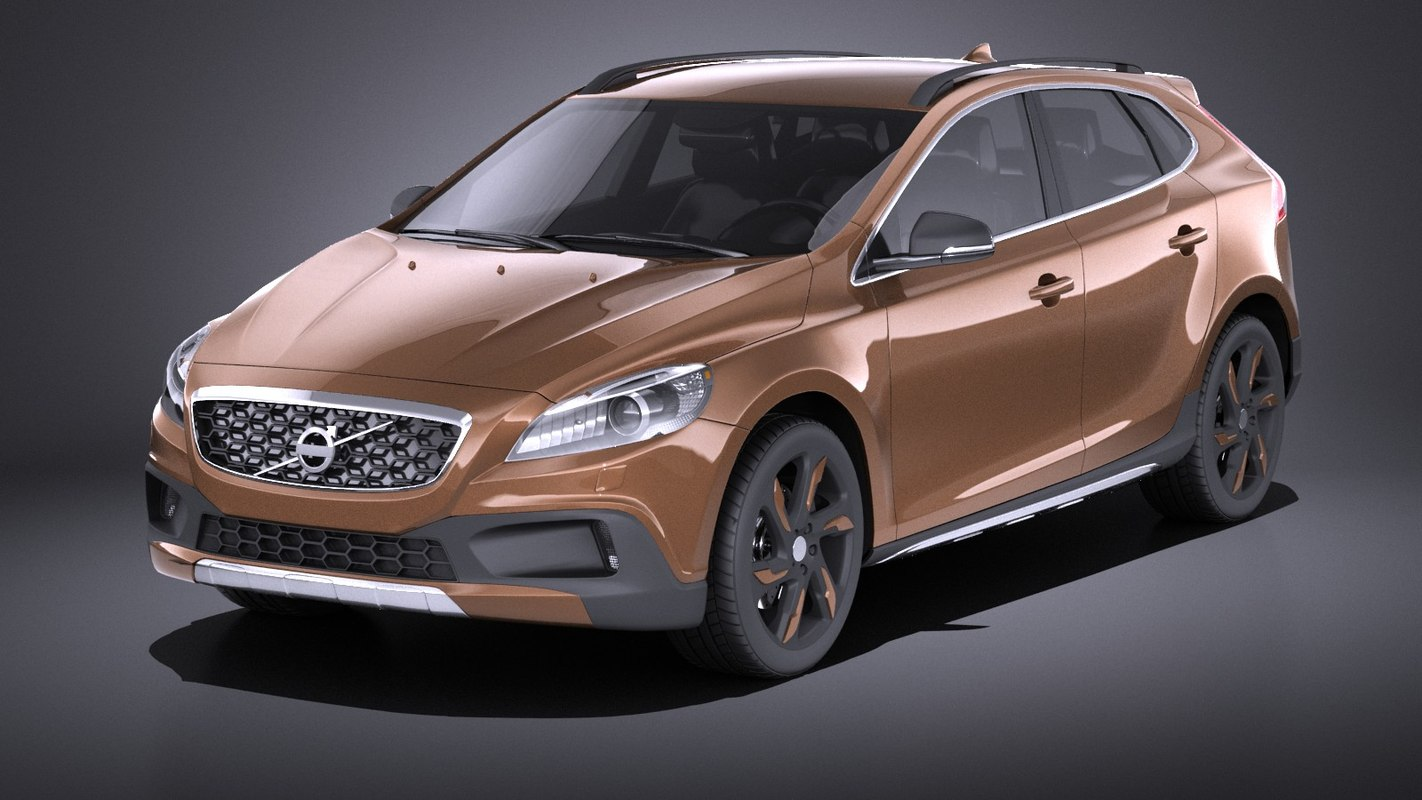 3dSkyHost: Volvo V40 Cross Country 2013 VRAY 3D model