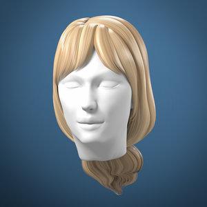 hair tied woman model