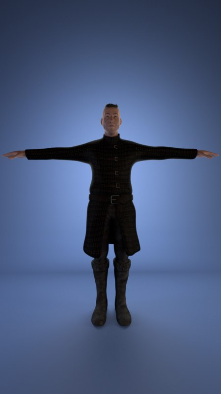 modeled character 3D