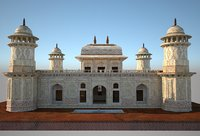 3D temple itmad-ud-daulah tomb model