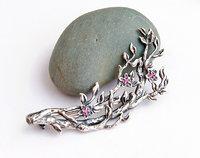 Twig brooch, printable jewelry model