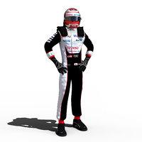 2018 wec kazuki 3D model