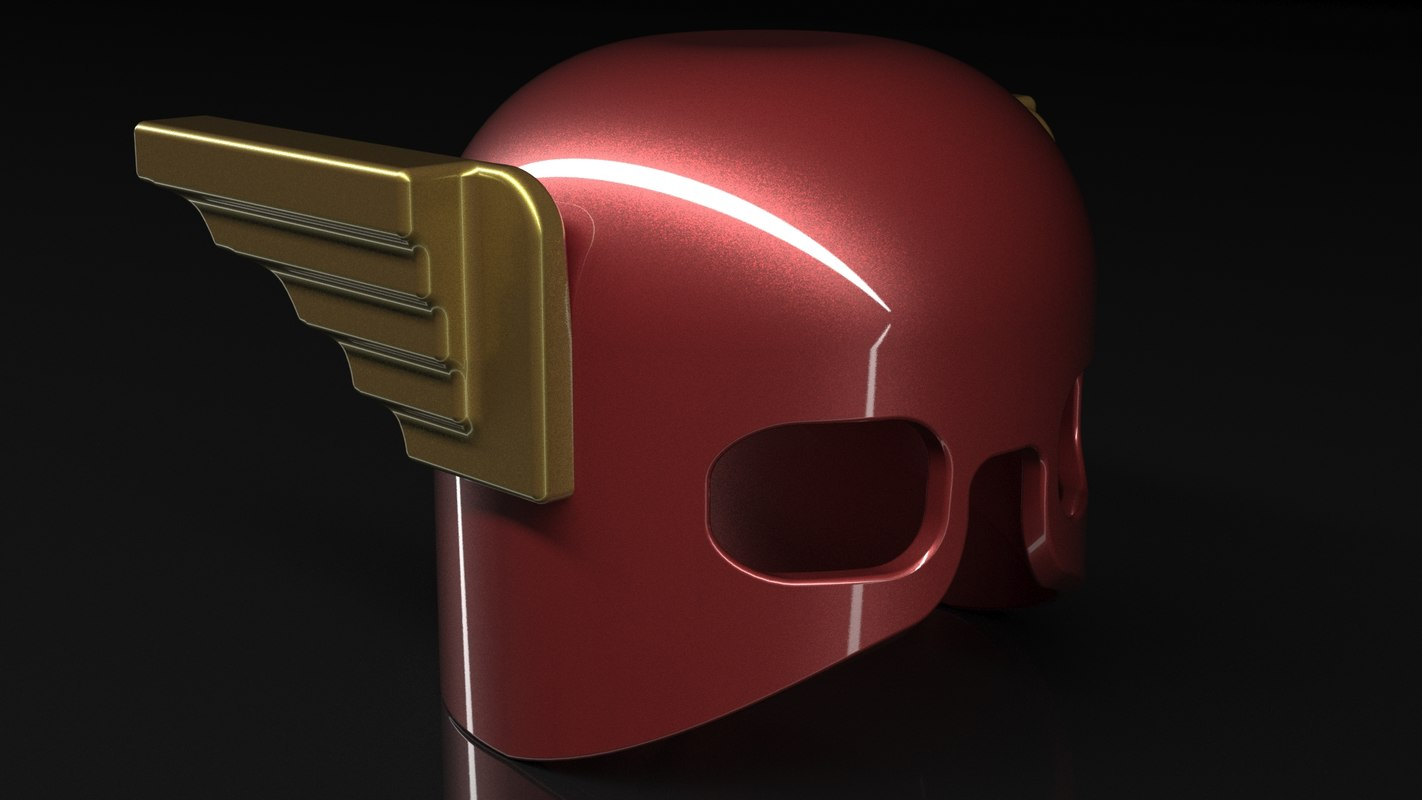 flash lego helmet model