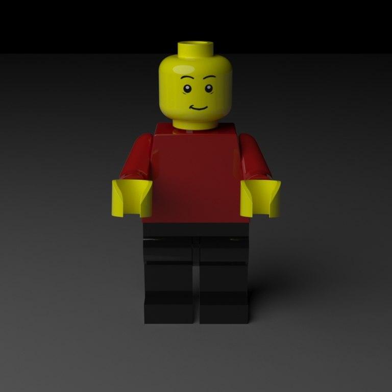 3D model standard lego man