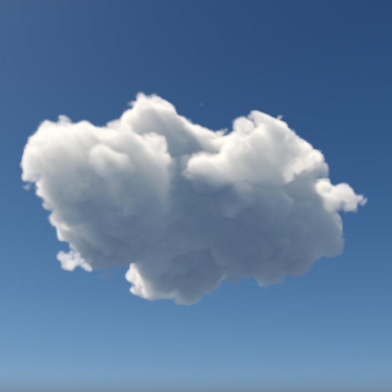 3D realistic cloud