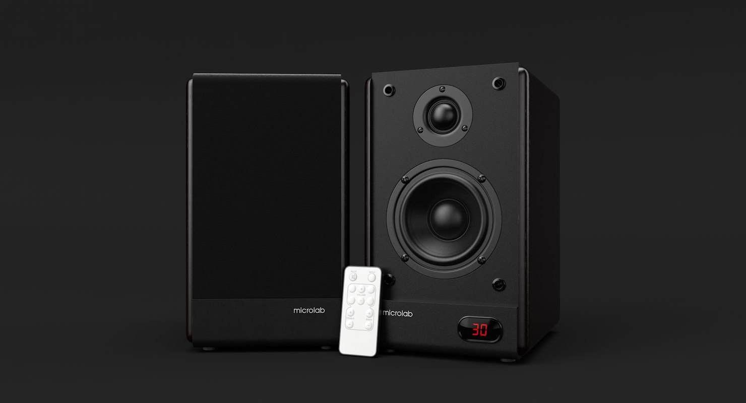 3D model realistic microlab solo-4c speaker