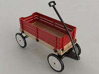 toy wagon 3D model