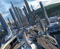 Central Business District. Future City. Next Part 3