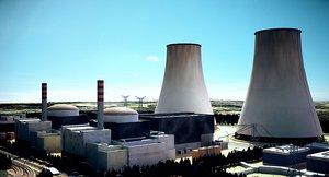 nuclear power exterior 3D model