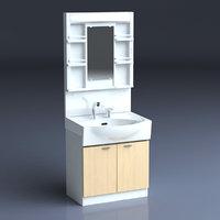 japan lavatory 3D
