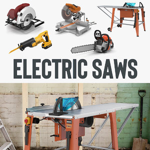 3D electric saws 3 model