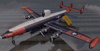plane lockheed ec-121 warning 3D