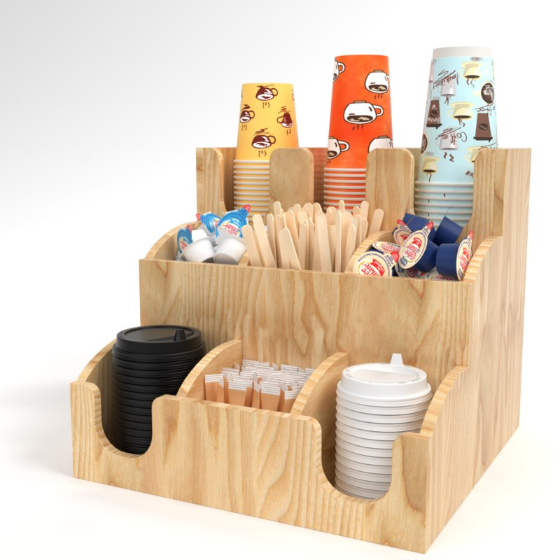 blender bar holder organizer 3D