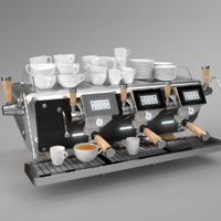Astoria Coffee Machine Storm 3 group black