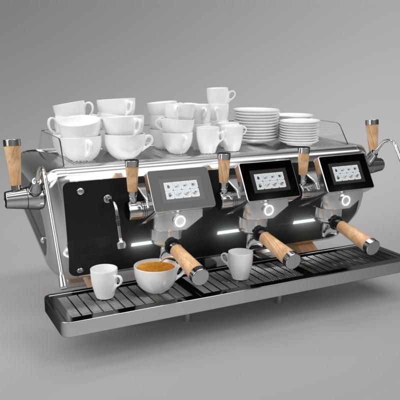 blender grouped astoria coffee machine 3D model