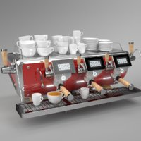 3D blender grouped astoria coffee machine