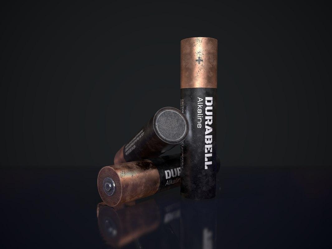 3D texturing battery horror model