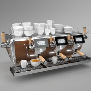 blender grouped astoria coffee machine 3D model
