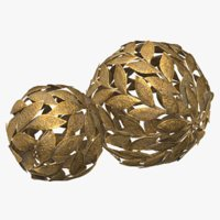 3D metal leaf decorative ball