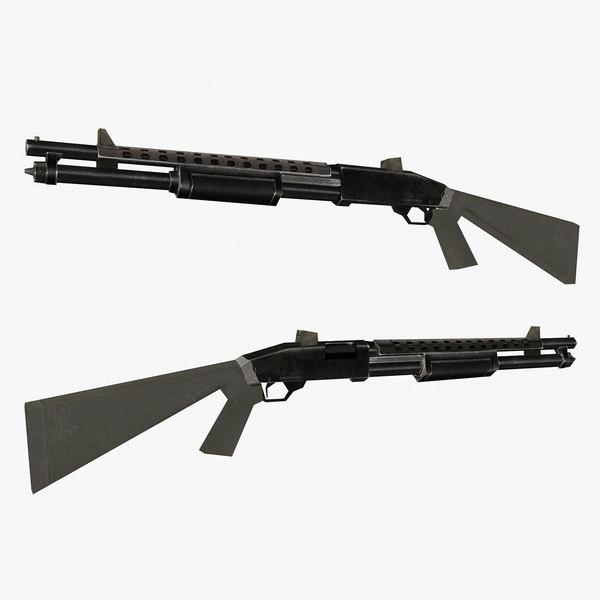 winchester gun 3D model