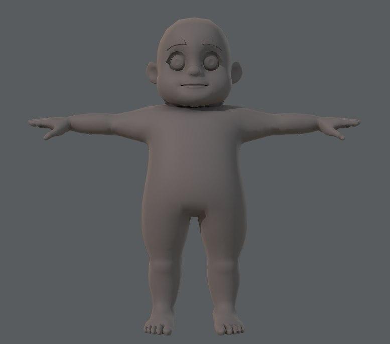 3D base boy character