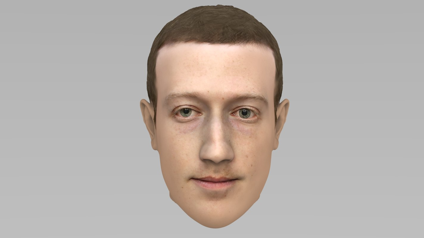 3D head mark zuckerberg