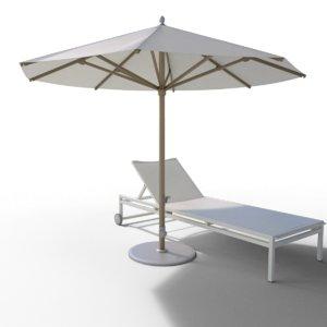 3D model outdoor parasol