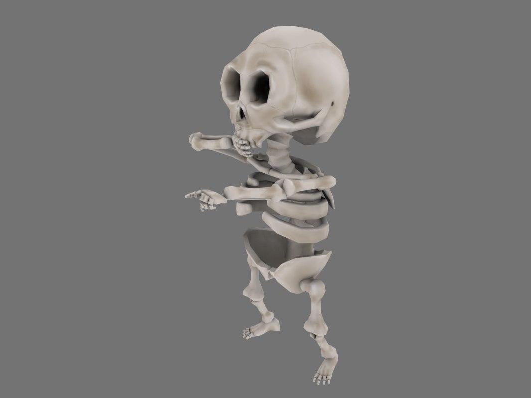 cartoon skeleton chibi model