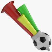 3D soccer horn model