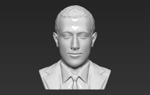 mark zuckerberg bust ready 3D