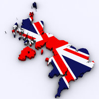 united kingdom 3D