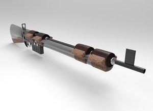 concept rifle gun 3D model