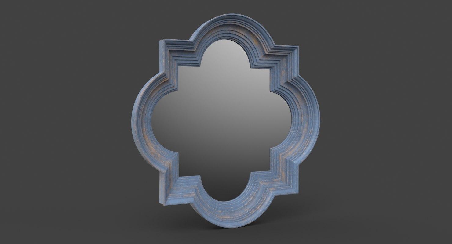 farmhouse wall mirror 3D model