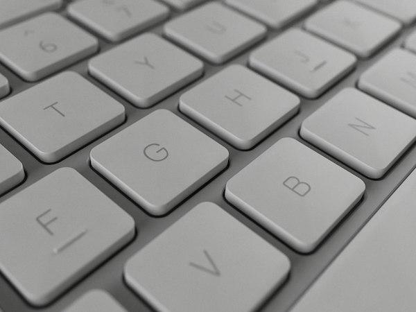 3D apple wired keyboard