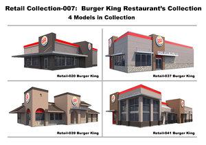 3D burger king model