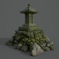 stone lantern 3D