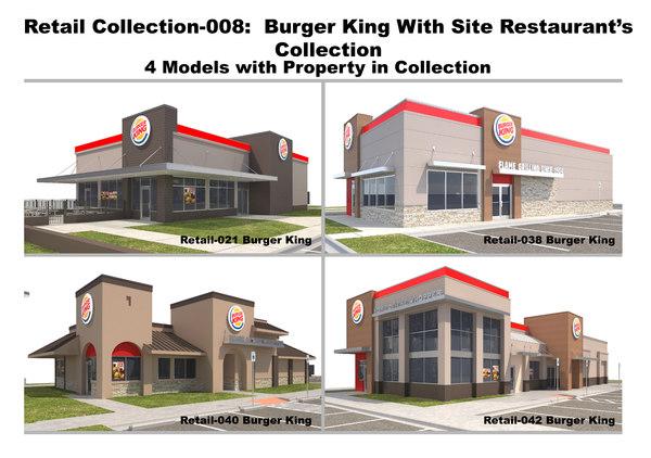 3D retail collection-008 burger king