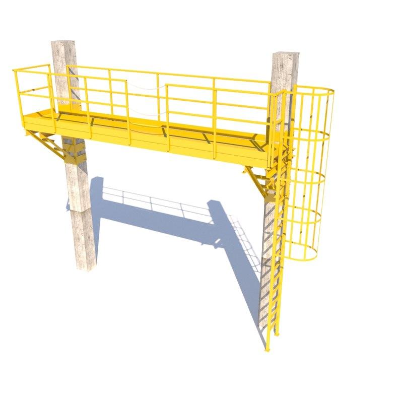 crane service platform 3D model