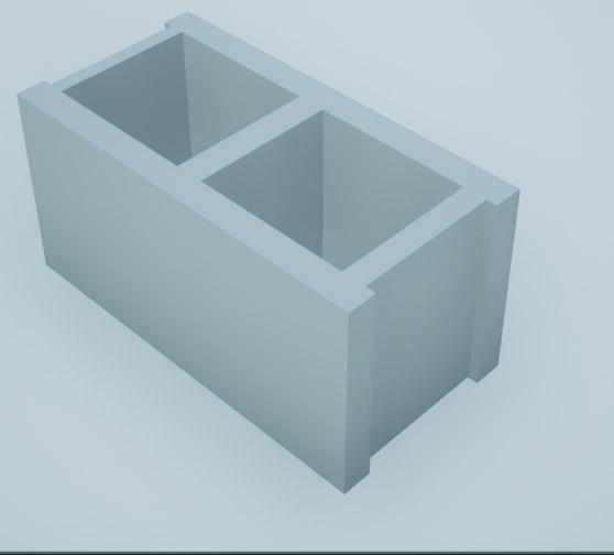 3D concrete construction block building