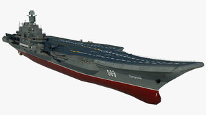 3D large aircraft carrier admiral
