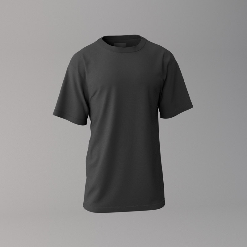 black t-shirt 3D model