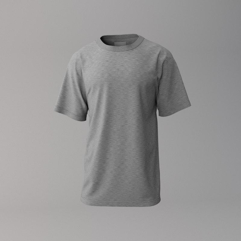 3D grey t-shirt