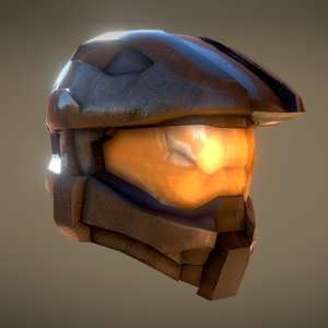 3D halo spartan helmet -