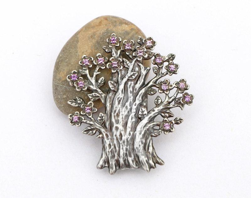 tree brooch jewelry 3D